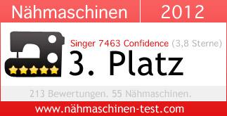 Singer 7463 Confidence Platz 3 in 2012