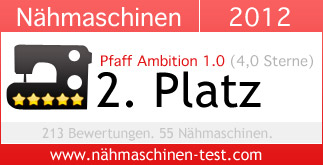 Pfaff Ambition 1.0: Platz 2 in 2012