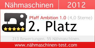 Pfaff Ambition 1.0: Platz 2 in 2012