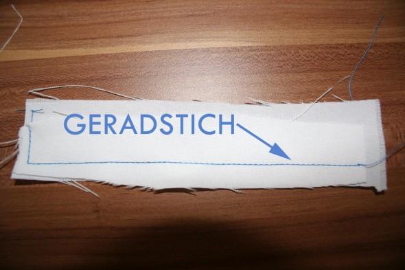 Geradstich